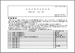 宮崎県農業気象速報平成30年8月下旬PDF