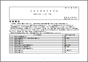 宮崎県農業気象速報平成30年11月下旬PDF